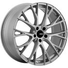 4 Konig 46S Interflow 18x8 5x45 +35mm Silver Wheels Rims 18 Inch