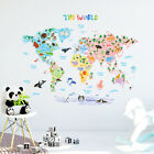 Decowall Animal World Map Nursery Kids Removable Wall Stickers DLT 1615X LARGE
