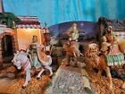 Fontanini Nativity Set Wisemen THREE KINGS on Animals 5 Heirloom Collection