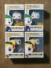 The Joker & Harley Quinn Set Of 4 Funko Pops with Pop Protectors *Exclusives*