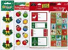 4 Packs Christmas XMAS Scrapbook Stickers Tags Candles Smile Happy Face