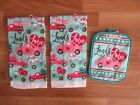 LOADS OF LOVE 2 Decorative Hand Towels  Table Hot Pad Valentines Truck Heart