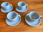 Homer Laughlin Fiestaware Periwinkle Pale Pastel Blue Cup & Saucer 4 Sets