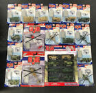 Lot Of GI Joe Metal Official Collectors Die Cast Tanks Trucks Helicopters In BOX
