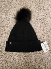 Lululemon Women's Twisted Bliss Beanie Cap Winter Hat Black with black pom NWT