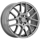 4 Vision 426 Cross 16x7 5x100 5x45 +38mm Gunmetal Wheels Rims 16 Inch