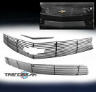 FOR 2010 2013 CHEVY CAMARO SS LONG UPPER+BUMPER+SCOOP BILLET GRILLE LOGO CUTOUT