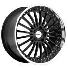 4 TSW Silverstone 18x8 5x1143 5x45 +40mm Gloss Black Wheels Rims