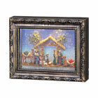 RAZ IMPORTS LIGHTED WATER PICTURE FRAME NATIVITY SCENE WITH SWIRLING GLITTER