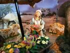 FONTANINI SARAH Girl w Flowers Nativity Set 5 Collection HEIRLOOM Rare SIGNED