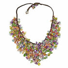 Handmade Multi Colored Glass Shards Waterfall Bib Necklace