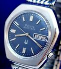Bulova Accutron 2182 day/date RARE case and blue dial ss watch and new band 1973