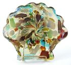 MURANO ART GLASS Bowl Candy Dish Bowl Multi Color Gold Fleck Flakes Shell 1950s