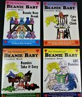 Unofficial Beanie Baby Coloring Book Lot 4 Les & Sue Fox Uncolored 1998 Vintage