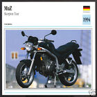 1994 MuZ Skorpion Tour (MZ) 660cc German Bike Motorcycle Photo Spec Info Card