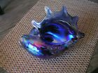 CONCH SHELL ART GLASS HAND BLOWN GORGEOUS COLORS SIGNED