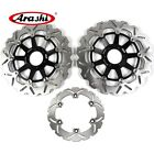 For Honda X ELEVEN 1100 2000 2001 2002 2003 Front Rear Brake Disc Rotors Black