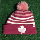 NWOT Rare pink Toronto Maple Leafs winter palm beanie 47 brand Hat Cap H22