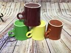 Fiesta Ware Tom And Jerry Mugs Set of 4 Cinnabar Shamrock Sunflower Paprika