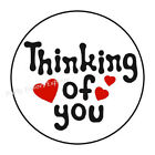 48 THINKING OF YOU ENVELOPE SEALS LABELS STICKERS 12 ROUND