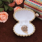 1x New Cute Shell Shape Necklace Box Display Gift Ring Earring Box Jewelry