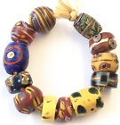 Fine old variety of wound Venetian Antique glass African Trade beads