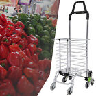 Folding Shopping Cart Grocery Trolley Laundry Stair Climbing Large Handcart New