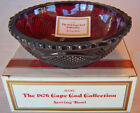 1986 Vintage Avon 1876 Cape Cod SERVING BOWL Ruby Red Glass Brand NEW