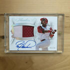 05 10 BARRY LARKIN 2019 Panini Flawless Autograph Auto Game Worn Patch Reds