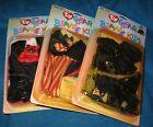 Lot 3 Assorted Vintage Ty Gear for Beanie Kids - Witch, Uncle Sam,