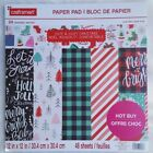 CUTE  COZY 12X12 SCRAPBOOKING CARDSTOCK PAPER 48 LOT CRAFT SMART CHRISTMAS