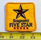 VTG Patch SEAGRAM'S FIVE STAR RYE WHISKEY Canada 1970s