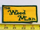 VINTAGE Patch THE WEED MAN pot grass marijuana Lawn Maintenance 1970s OG logo