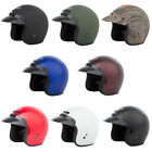 Adult GMAX GM2 Open Face Helmet Motorcycle ATV Chopper Scooter DOT Approved