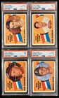 1960 TOPPS Baseball Rookie Star Lot (4 cards) All Graded PSA 6 & 7 • No Reserve