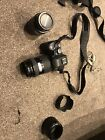 Olympus E-500 Camera, Flash And Camera Bag