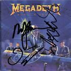MEGADETH Rust in Peace DAVE MUSTAINE Marty Friedman Ellefson CD Autograph SIGNED
