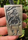 Old Pawn Hopi Native American Sterling Silver Overlay Mud Man Kachina Bolo Tie