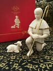 IOB Lenox China Nativity Pearl INNOCENCE Shepherd  Lamb Sheep Retired EXCELLENT