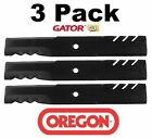 3 Pack Oregon 96 344 3 in 1 Gator Mulcher Blade for John Deere AM104490