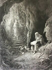 Gustave Golden Engraving the Idylls of King Alfred Tennyson 1869 Arthur XIX