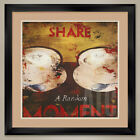 32Wx32H SHARE A RANDOM MOMENT by RODNEY WHITE DOUBLE MATTE GLASS  FRAME