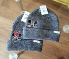 Neff Disney World Mickey and Minnie Beanie His And Hers NWT O/S fits most grey