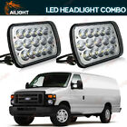 5X7 7x6 LED Clear Projector Headlight Halogen For Jeep Cherokee XJ YJ Ford GMC