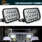Pair 90W 5x7 7x6 LED Headlight Hi Lo Beam Halo DRL For Jeep Cherokee XJ YJ