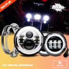 Fits Harley Electra Glide Classic 7 LED Headlight + 45 Halo Passing Lights