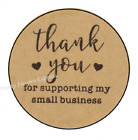 30 THANK YOU FOR SUPPORTING MY BUSINESS ENVELOPE SEALS LABELS STICKERS 15