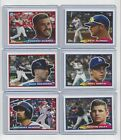 2019 Topps Throwback Thursday TBT Set 38 Complete 6-Card Set 1988 Topps BIG