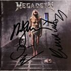 MEGADETH Countdown to Extinction - DAVE MUSTAINE Marty Friedman Autograph SIGNED