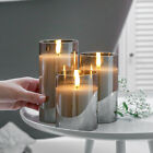 Authentic Flame Battery Flickering LED Candle Lights Glass Jar Wax  Indoor